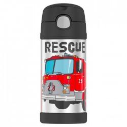 Detská termoska so slamkou - hasiči