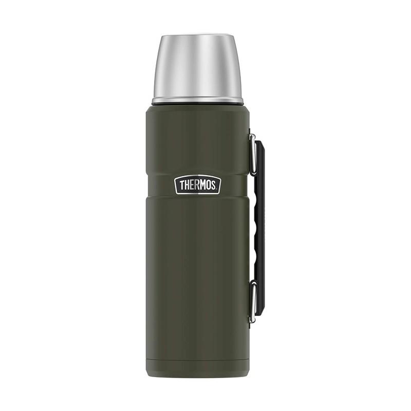 Termoska na nápoje s držadlom - vojenská zelená