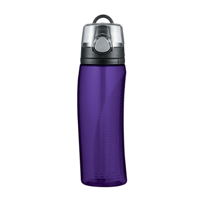 Hydratačná fľaša s počítadlom - fialová