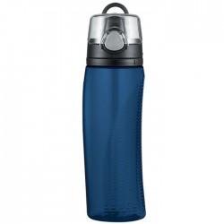 Hydratačná fľaša s počítadlom - tmavomodrá