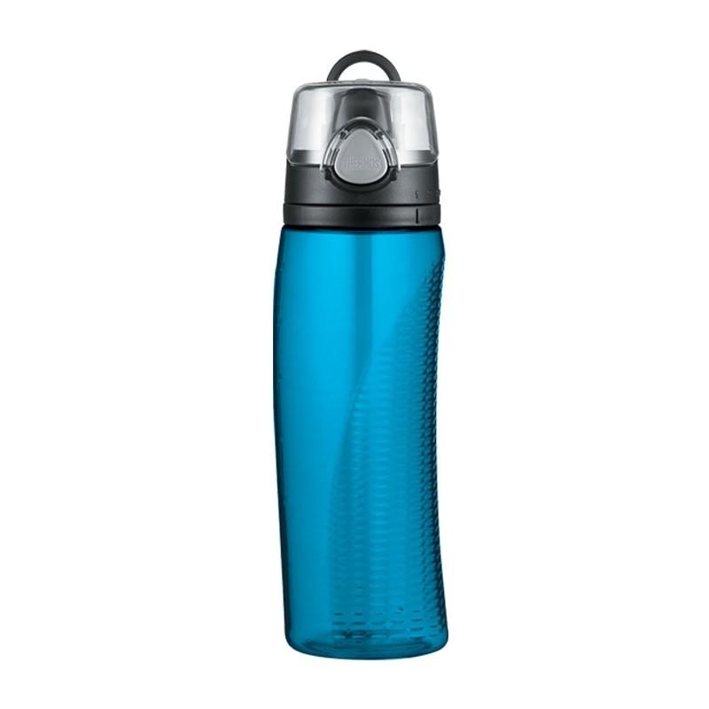 Hydratačná fľaša s počítadlom - svetlomodrá
