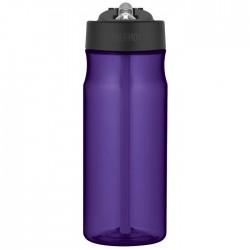 Hydratačná fľaša so slamkou - fialová