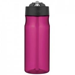 Hydratačná fľaša so slamkou - purpurová