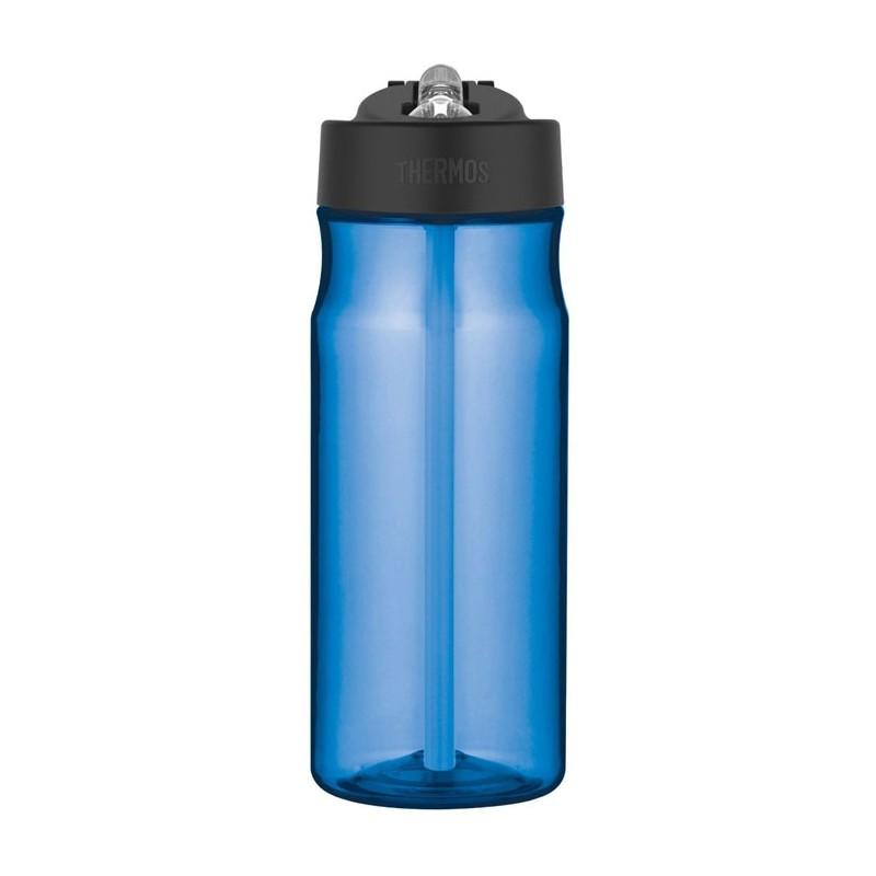 Hydratačná fľaša so slamkou - svetlomodrá