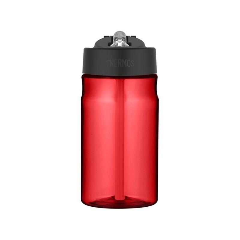 Dětská hydratační láhev s brčkem - červená