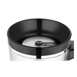 Tlačítkový uzávěr pro vodotěskný termohrnek - černá